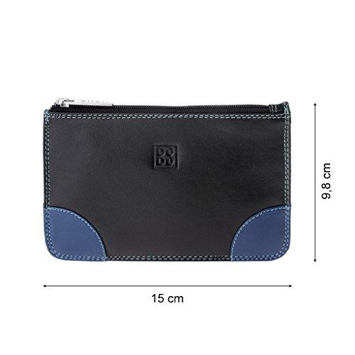 tout 3 cartes cuir pour Pochette fourre zip DUDU avec et crédit fentes femme en véritable Noir pour coloré de 5PgHBxq