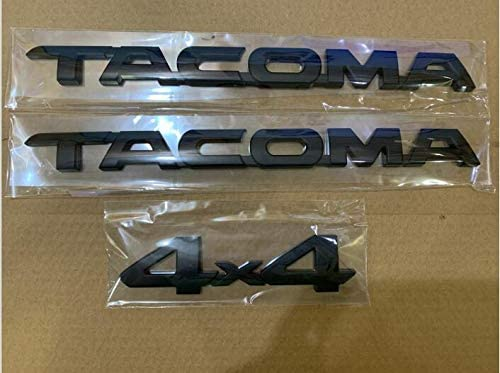 3x For Tacoma Matte Black Tag Door Fender Emblem Decal Badge Nameplate