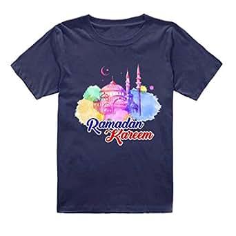 FMstyles - Ramadan Kareem Design Kids Dark Blue Tshirt - FMS239