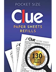 Clue Paper Sheets Refills: Extra Small Clue Cards Replacement, 4 x 6 inches Answer Pads with Dr. Orchid, Detective Board Game Score Notepad