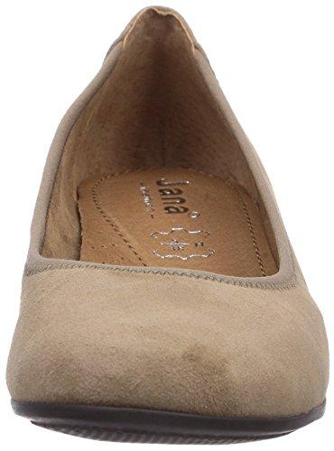 Jana 22202 - zapatos de tacón cerrados de cuero mujer gris - Grau (TAUPE SUEDE)