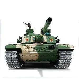 henglong 2.4ghz remote control 1/16 chinese ztz 99a mbt air soft rc battle tank smoke & sound (upgrade version w/metal gear & tracks) - 41gpH BN2eL - 2.4Ghz Remote Control 1/16 Chinese ZTZ 99A MBT Air Soft RC Battle Tank Smoke & Sound (Upgrade Version w/ Metal Gear & Tracks)