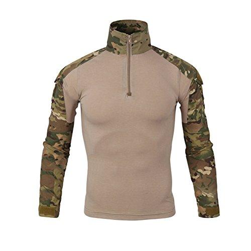 LANBAOSI Chemise de Combat Militaire Homme Airsoft Shirt Tenue Camouflage Uniforme Tactique Séchage Rapide à Manches… 1