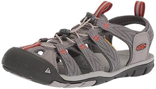 KEEN Men's Clearwater CNX-M Sandal, Grey Flannel/Potters Clay, 10 M US from KEEN