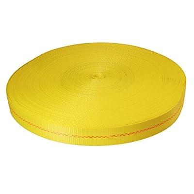 "2"" x 300' Yellow Polyester Webbing - 12,000 lb Tensile Strength"