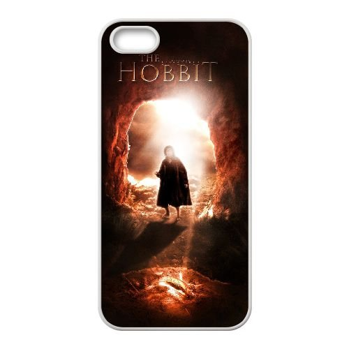 The Hobbit 005 coque iPhone 4 4S cellulaire cas coque de téléphone cas blanche couverture de téléphone portable EOKXLLNCD20085