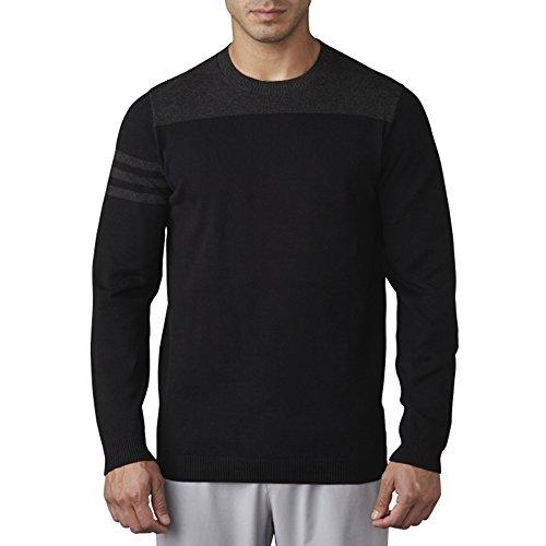 Adidas Golf Sweater - adidas Golf Men's Adi 3 Stripe Crewneck Sweater, Black, X-Large