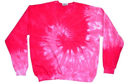- Colortone Tie Dye Sweatshirt 2X Spiral Pink