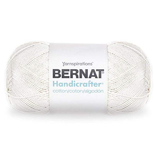 - Bernat Handicrafter Cotton Yarn, 14 oz, 100% Cotton, Ball Off White