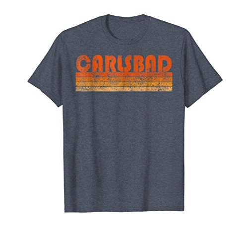 Mens Vintage Retro Carlsbad California T-Shirt Large Heather Blue