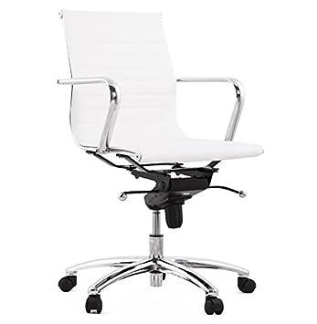 Kokoon Michelin OC00170WH Silla de Oficina Blanca de Metal ...