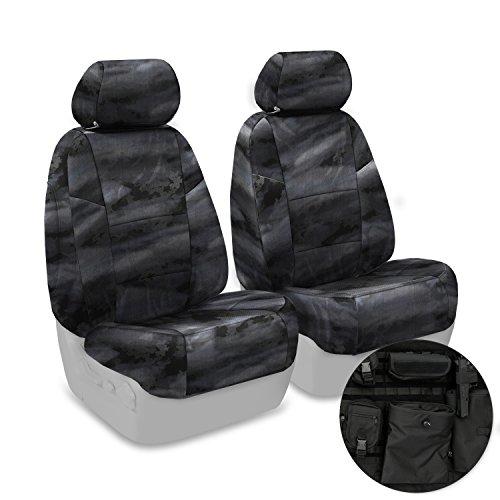 Coverking Custom Fit Front 50/50 Bucket Tactical Seat Cover for Select Honda Ridgeline Models - Cordura/Ballistic A-TACS Camo (Law Enforcement)