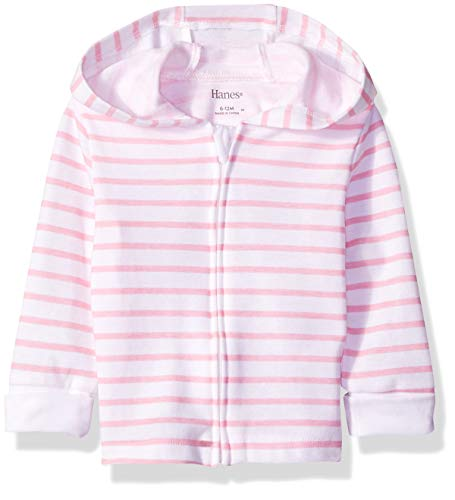 - Hanes Ultimate Baby Zippin Knit Hoodie, Pink Stripe, 12-18 Months