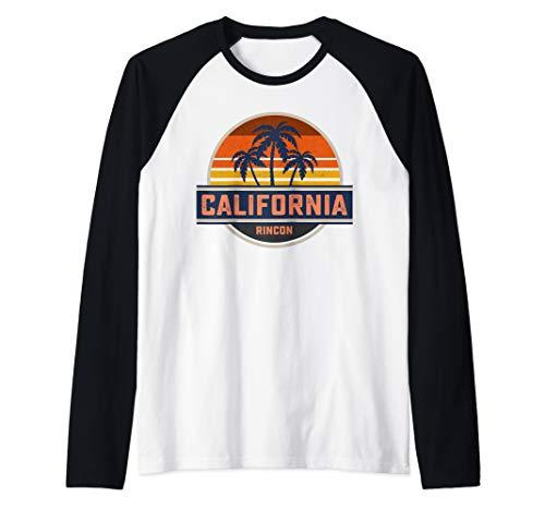 Retro California Rincon Point Shirt Surf Vintage Beach Gift Raglan Baseball Tee