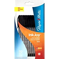 PaperMate InkJoy 100 ST Ball Pen with 1.0 mm Medium Tip - Black, Pack of 10