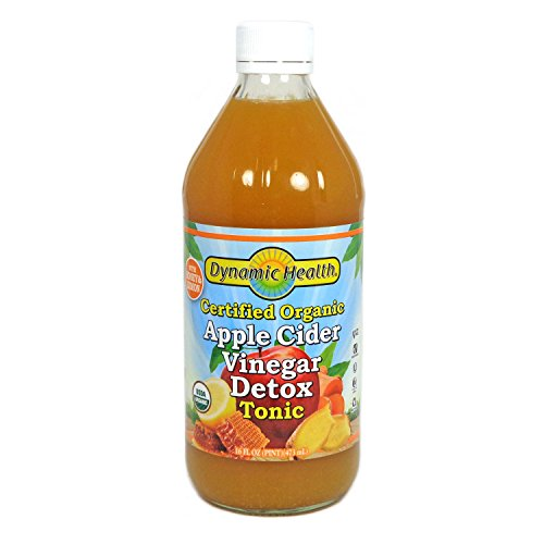 Dynamic Health Certified Organic Apple Cider Vinegar Detox Tonic, 16 Ounce (Best Vinegar For Health)