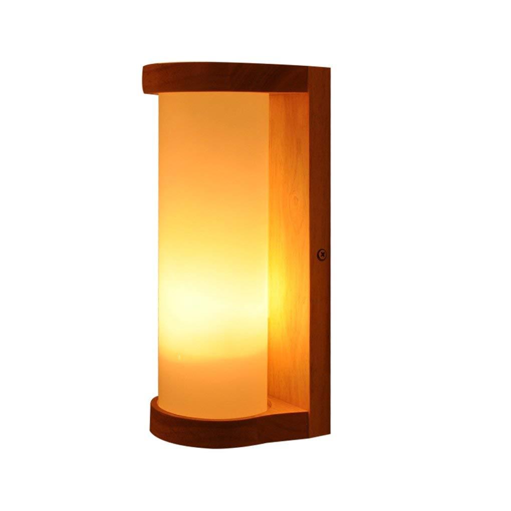 Zhang Yan ZYY Einfache Moderne Nachttisch aus massivem Holz Wohnzimmer Gang Flur Geheimnisvolle Lichter Warmes Schlafzimmer im japanischen Stil Nachttischlampe E27 Nachttischlampe (Farbe  Single)