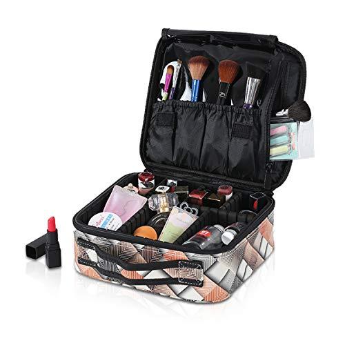 NICOLE&DORIS Portable Makeup Bag Travel Make-Up Case Organiser Adjustable
