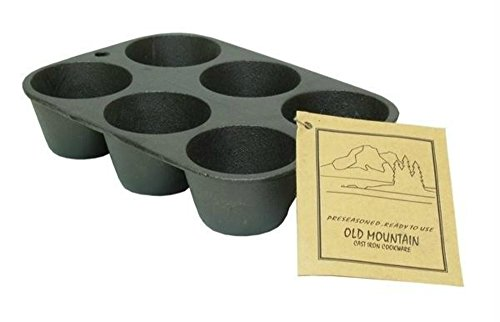 Old Mountain Cast Iron Muffin Pan - 6 Impression