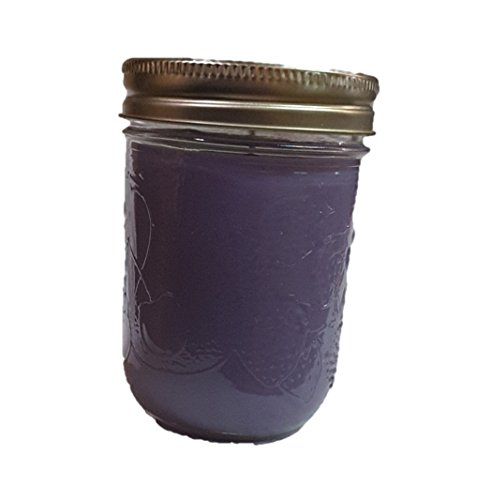 Anesidora Candles ~ Lavender Soy Wax Mason Candle - Infused with Natural Essential Oils (Toffee Soy)