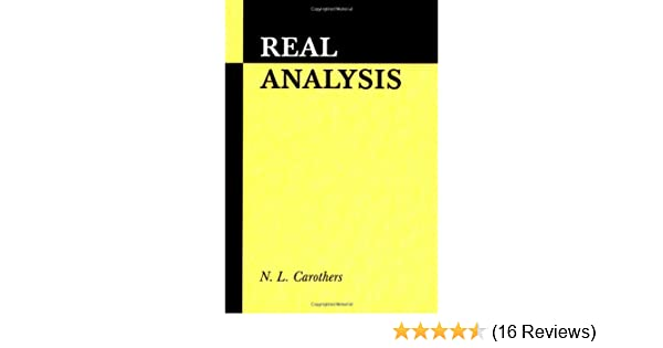 Amazon real analysis 9780521497565 n l carothers books fandeluxe Images