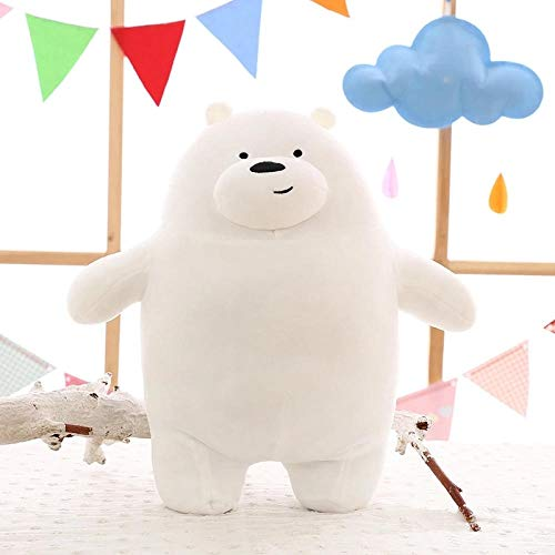 We Bare Bears Plush Toy Cartoon Bear Stuffed Grizzly Gray White Bear Panda Doll Kids Love Birthday Gift Zhaozb (Color : White) (The Difference Between Grizzly Bears And Pandas)