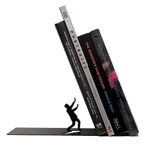 "ARTORI Design ""Falling Books"" Metal Bookend Decorative 1 Pcs Black"