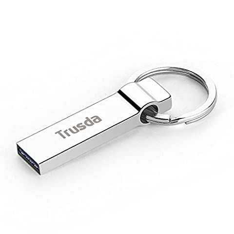 Flash Drive USB 3.0 64GB ,Trusda U90 Portable Storage Data Traveler Memory Stick with Key Ring Design