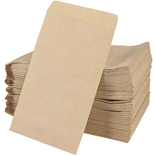 Acrux7 500 Pack #1 Coin Envelopes, 3.9X 6.5