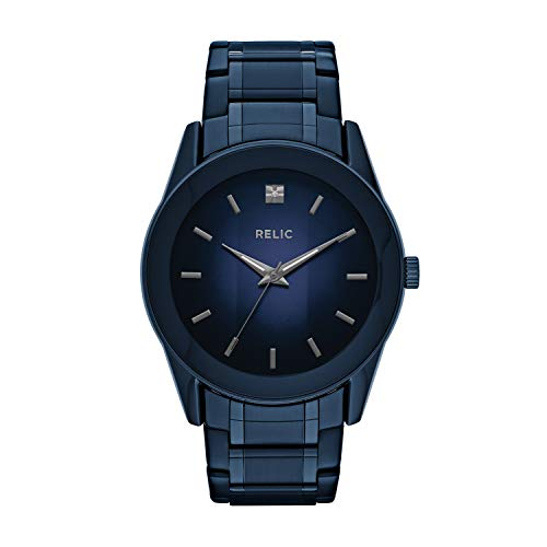 Relic by Fossil Diamond Accent Dress Watch (Model: ZR77281) Blue Stainless Steel Watch