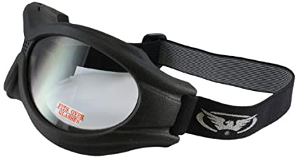 90e6f5ba8421 Amazon.com: Global Vision Big Ben Motorcycle Goggles (Black Frame ...