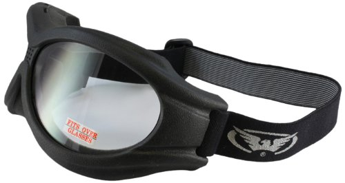 Black Frame//Clear Lens Eliminator Motorcycle Shatterproof  anti-fog Goggles
