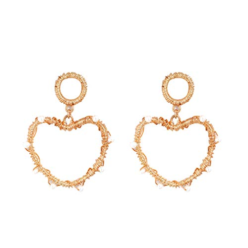 - Cathy Clara Fashion Elegant Bohemian Metal Pearl Love Geometry Star Earrings Women's Ladies Jewelry Pins Barrettes for Girls Women Lady Diamond
