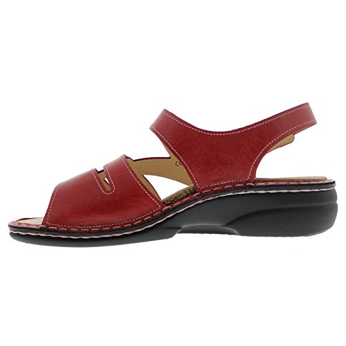 Red Gomera Open Sandals Heel Comfort Women's Wedge Finn 0nPqPa