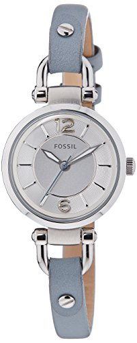Fossil Women's ES3822 Georgia Stainless Steel Watch with Blue Leather Band