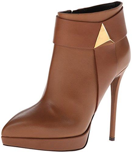 Giuseppe Zanotti Women's Platform Ankle Boot,Birel Brandy,9 M US