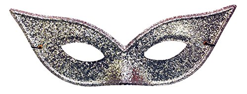 Lame Harlequin Mask - Morris Costumes Women's Harlequin Mask Lame Silver
