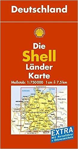 Map Of Germany Lander.Deutschland Germany Die Shell Lander Karte Map Shell Oil
