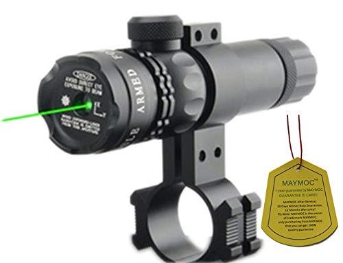 Modo de compatibilidad MAYMOC Visor de punto verde ultrabrillante con alcance de rifle con soporte de abrazadera libre 18-21 mm. Puede Clip de diámetro del tubo de 25 mm.