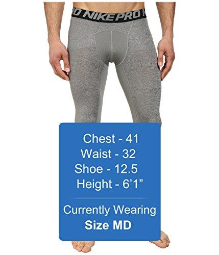 Nike Men's Pro 3/4 Tights (3XL, Carbon Heather/Black/Black) by Nike (Image #5)