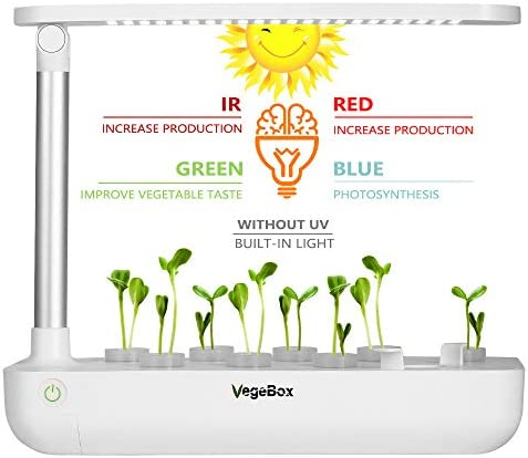 Hydroponics Growing System,Support Indoor Grow,herb Garden kit Indoor Small-White Grow Smart for Plant Built Your Indoor Garden