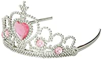 GIFTEXPRESS 1 DOZEN Princess Tiara Crown with Heart Stone Fuchsia) Tiara Headand