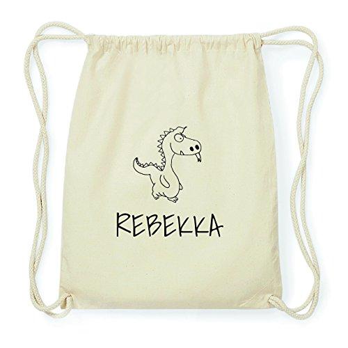 JOllipets REBEKKA Hipster Turnbeutel Tasche Rucksack aus Baumwolle Design: Drache