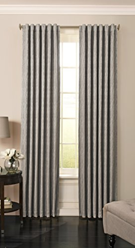 Beautyrest 15781052108SMK Barrou 52-inch by 108-Inch Blackout Single Window Curtain Panel, Smoke