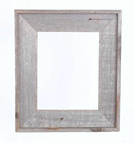 BarnwoodUSA Reclaimed Open Artisan Picture Frame (No Glass, or Backing) (11×14, Weathered Gray) Review