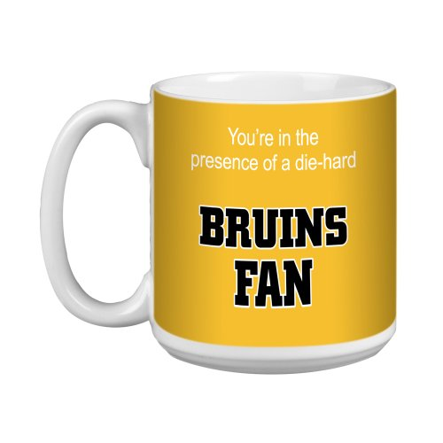 Boston Bruins Ceramic - Tree-Free Greetings XM28171 Bruins Hockey Fan Artful Jumbo Mug, 20-Ounce