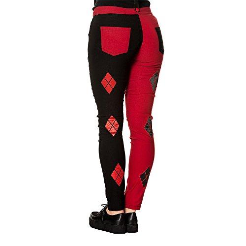 rosso Jeans Juno Rosso nero nero Banned Elasticizzati xxOwBFPt