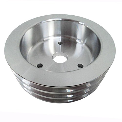 TRIPLE GROOVE CRANK PULLEY POLISHED Aluminum SWP WATER PUMP for BBC BIG BLOCK CHEVY