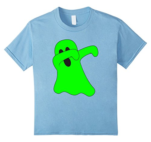 [Kids Dabbing Ghost T-Shirt - Dab Dance Funny Halloween Costume 8 Baby Blue] (Poltergeist Girl Costume)