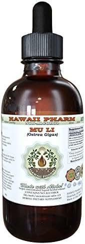 Mu Li Alcohol-FREE Liquid Extract, Mu Li, Oyster (Ostrea Gigas) Shell Glycerite Herbal Supplement 2 oz